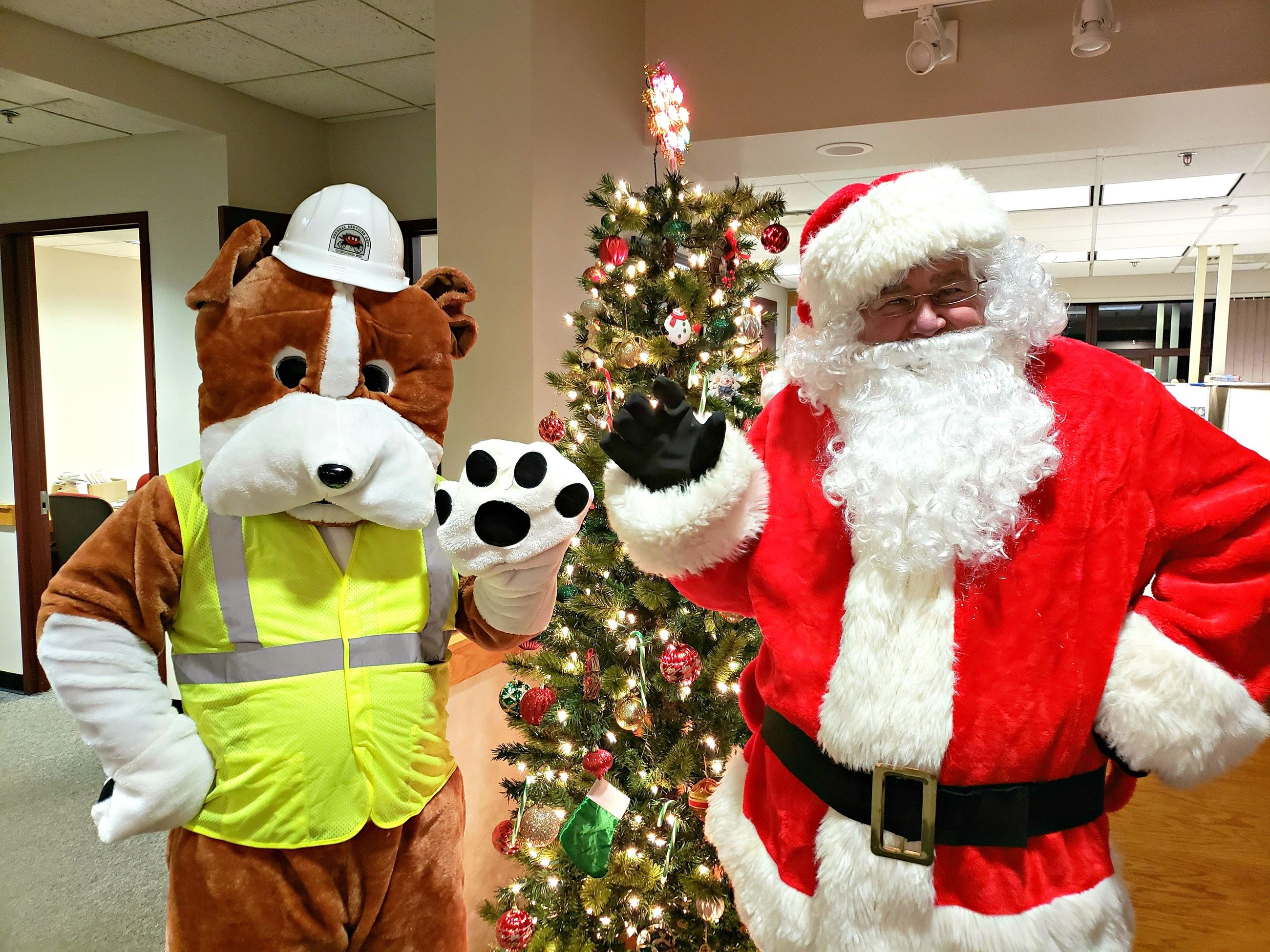Public Works Pup and Santa