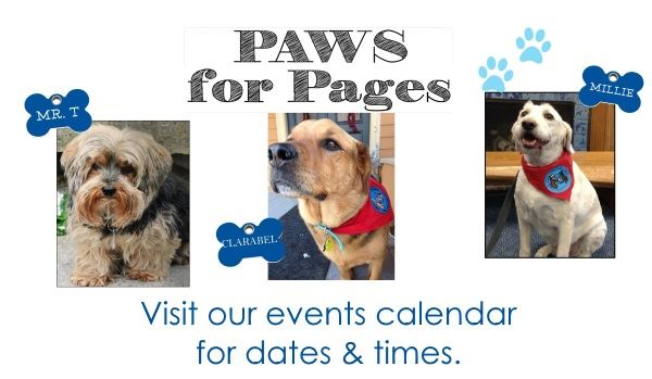 Paws for Pages Banner