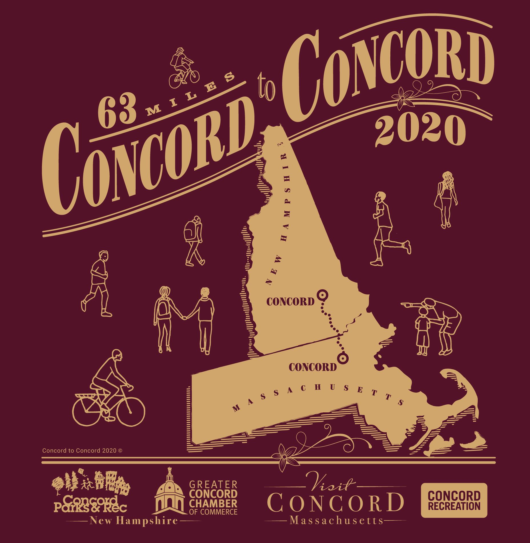 T shirt for concord to concord