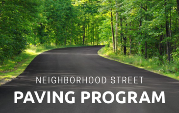 Neighborhood Street Paving Program - news flash