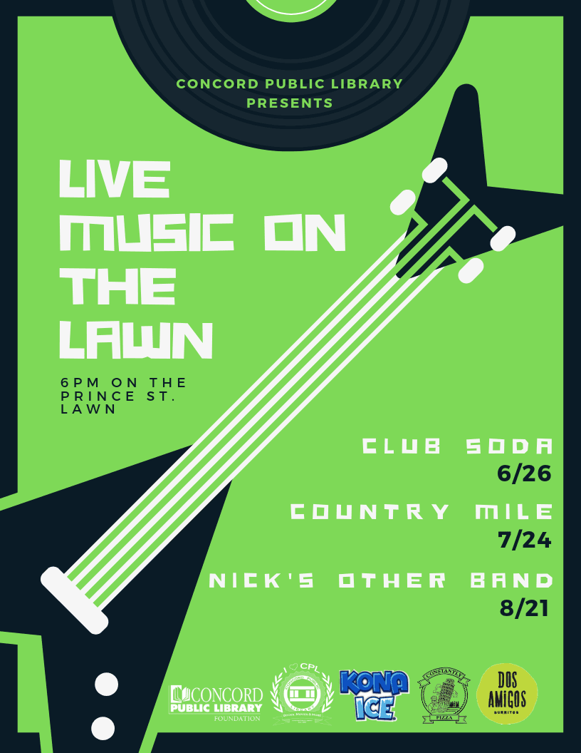 Live Music on the Lawn 2019 Poster