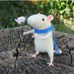 needle felted merry mouse