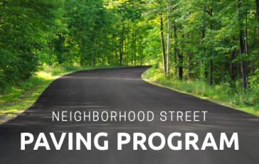 Neighborhood Street Paving Program - news flash