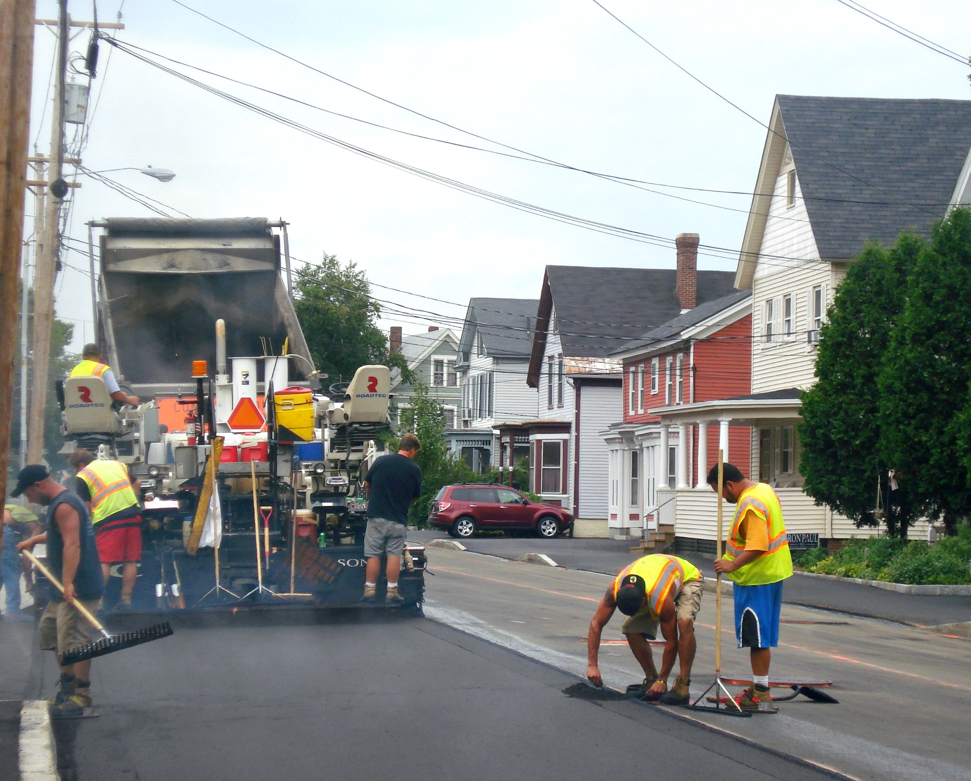 Workers Paving Road