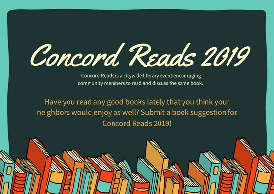 Concord Reads Book Suggestion Cards Front