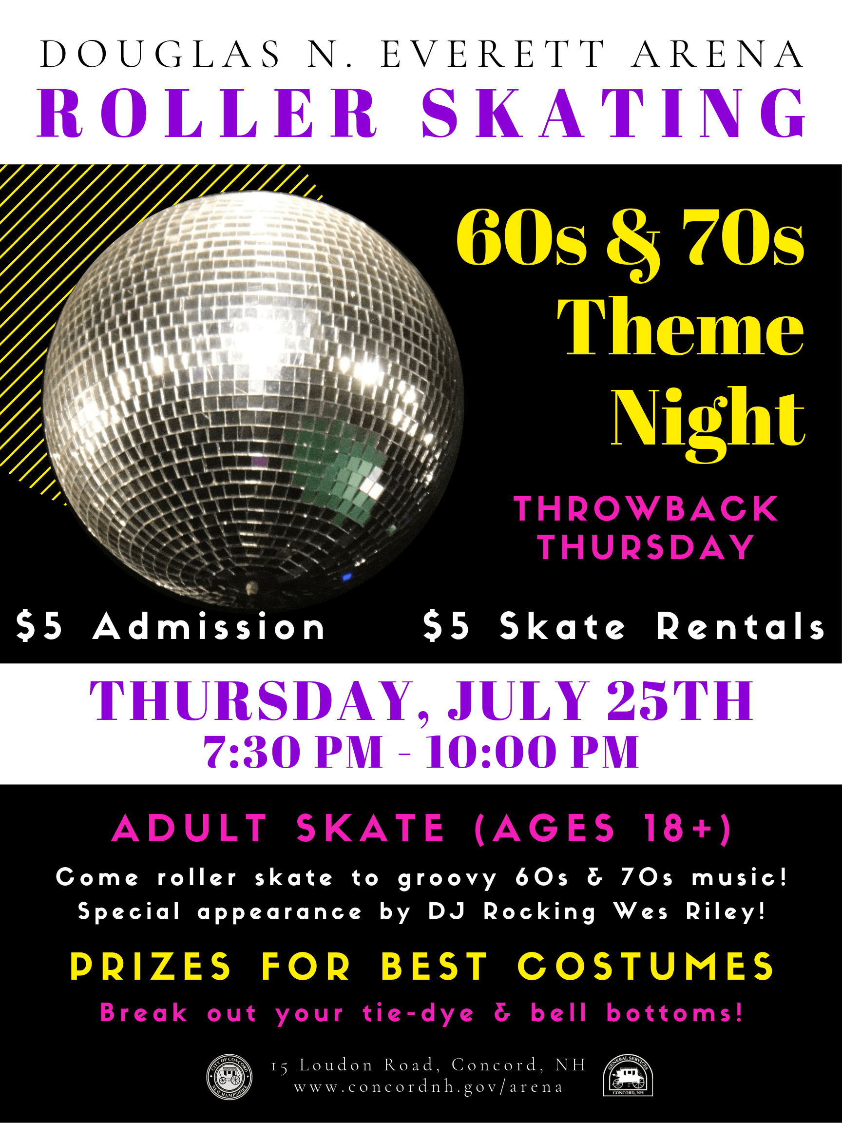 Roller Skating 60s and 70s Theme Night Opens in new window